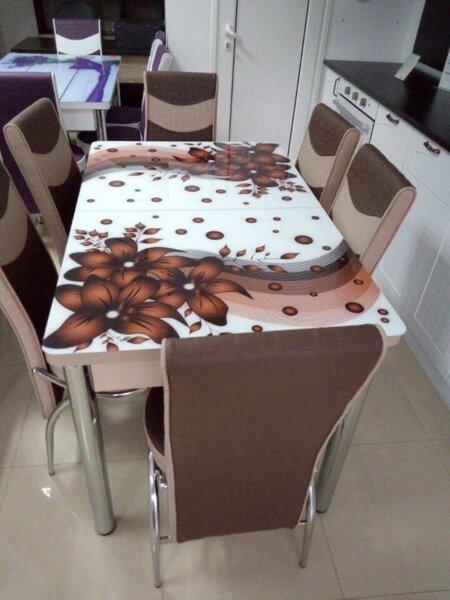 Кухненски комплект 163-кафяв