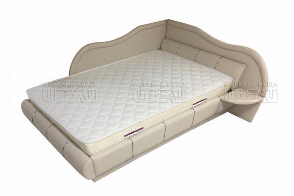 Ъглово кожено легло за матрак 120/190