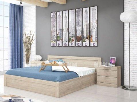 Легло с нощни шкафчета за матрак 160/200 - Сити 7002