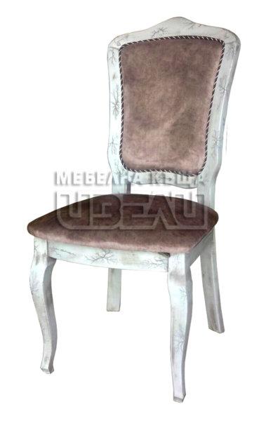 Стол Венеция бял с патина и ефекти