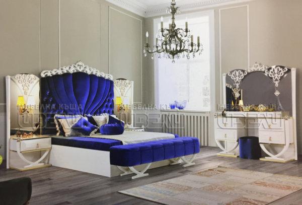 Спален комплект Крал (син)