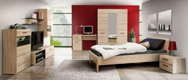 Легло 160/200 с подматрачна рамка Соло - дъб сонома
