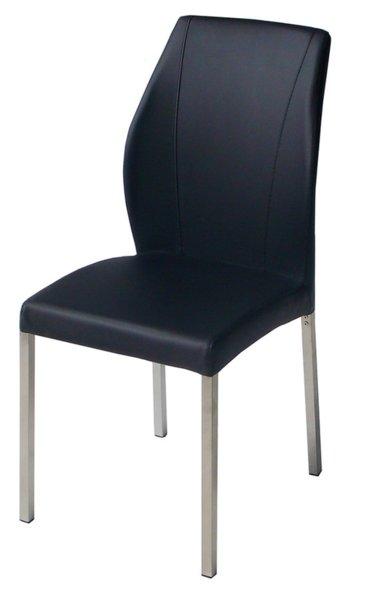 Трапезен стол AM-381 черна кожа