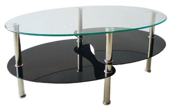 Холна маса D-5 90/50/43h черно долно стъкло