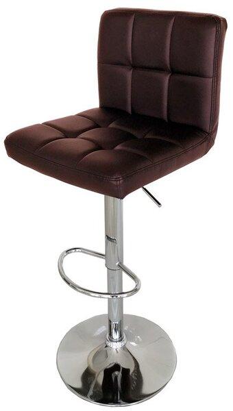 Бар стол Калипсо-12 кожа-кафява