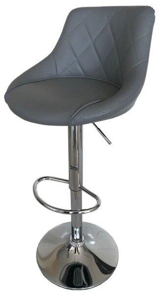 Бар стол Калипсо-16 кожа-сива