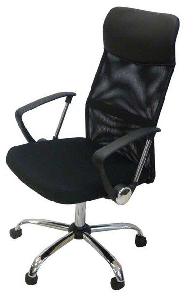 Офис стол 036 черна мрежа нисък гръб