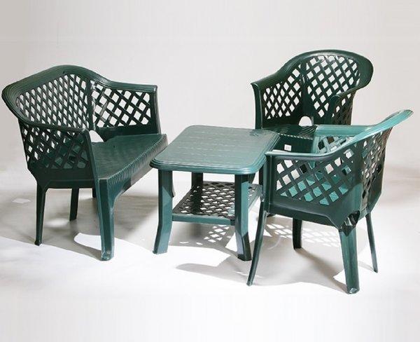 Пластмасов комплект Ларио/Лариана/Нисо зелен
