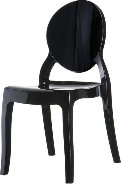 Стол Елизабет черен поликарбонат