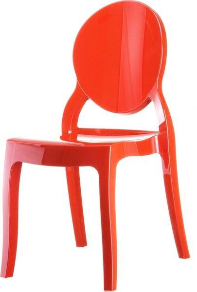 Стол Елизабет червен поликарбонат