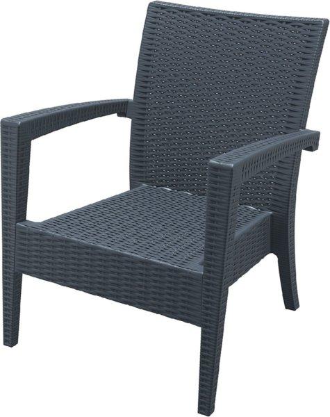 Кресло Маями антрацит полипропилен