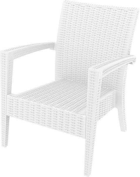Кресло Маями бяло полипропилен