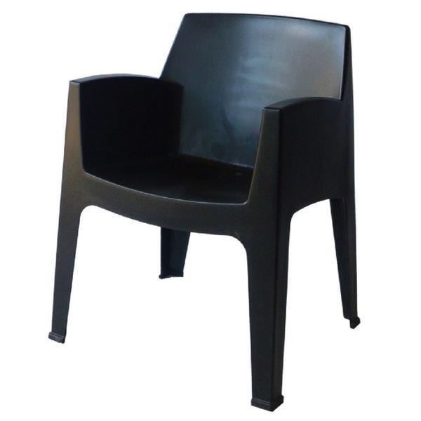 Пластмасово кресло Стон черно