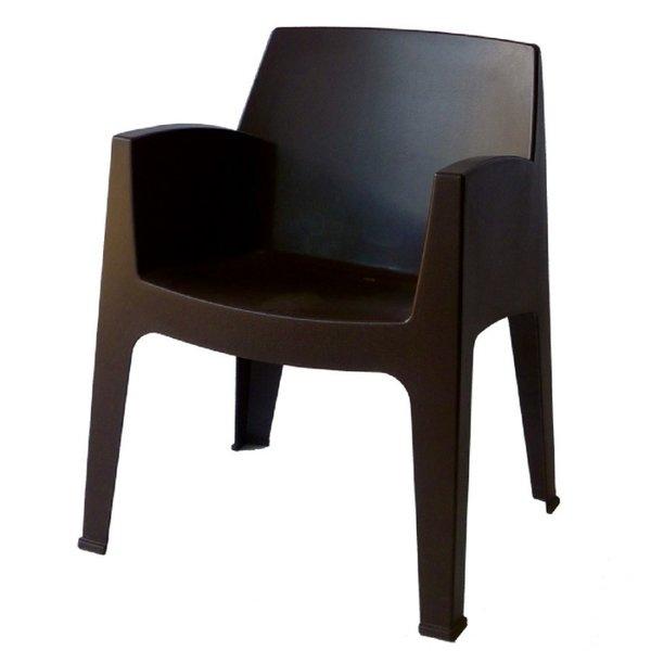 Пластмасово кресло Стон кафяво