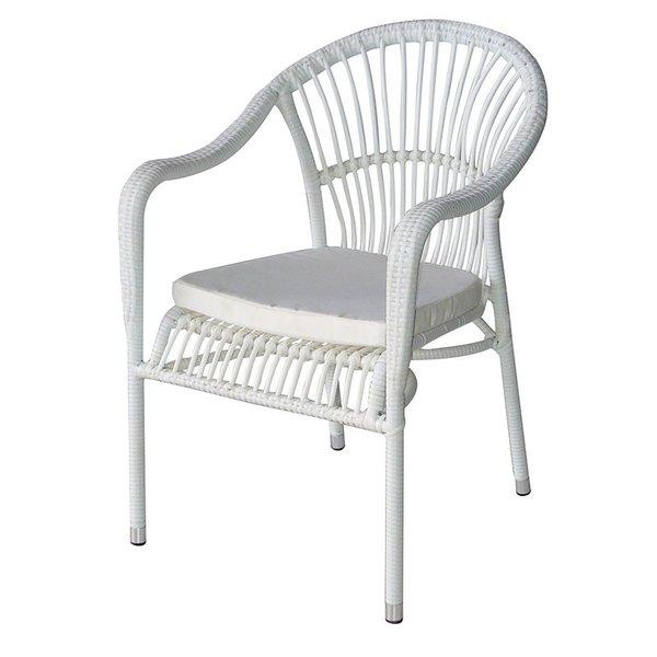 Ратанов стол 361 бял ратан