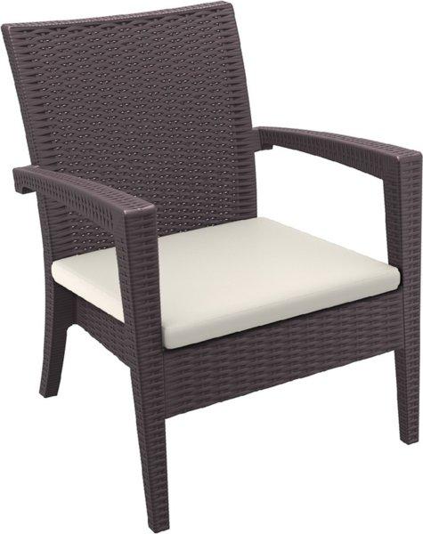 Кресло Маями - Възглавница 5см бежова