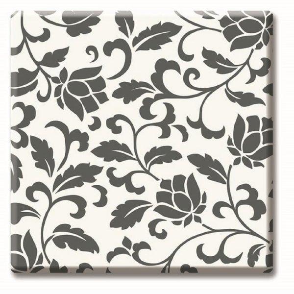 Плот Черно-бели цветя код 536