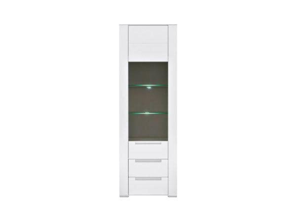 Висока витрина с плавно затваряне и LED осветление Dinaro REG1W2S/20/7