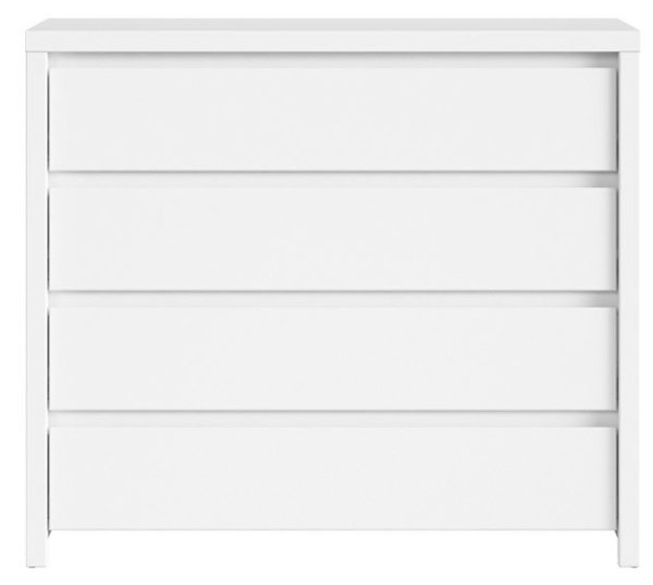 Скрин с четири чекмеждета KASPIAN KOM4S бял