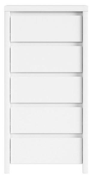 Скрин с пет чекмеждета KASPIAN KOM5S бял