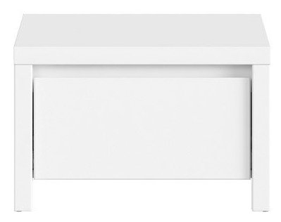 Нощно шкафче KASPIAN KOM1S бяло