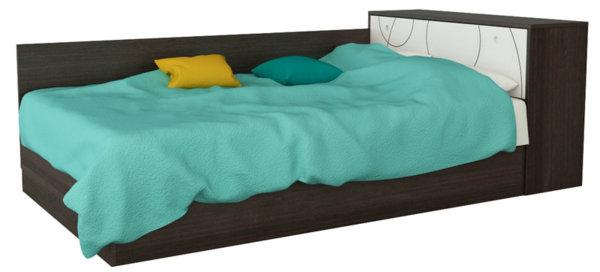 Легло за матрак 120/190 см с ракла КОМПАКТ венге и бяло