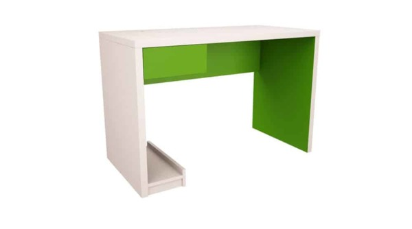 Бюро БОКС бяло и зелено лайм