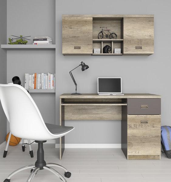Бюро с плот за клавиатура, врата и чекмедже Malcolm BIU1D1S
