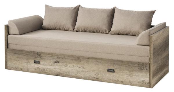 Разгъваемо легло с включени матраци, подлакътници и възглавници Malcolm LOZ/80/160