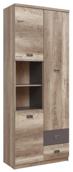 Двойна етажерка с 3 врати, 2 чекмеджета и рафт Malcolm REG3D2S