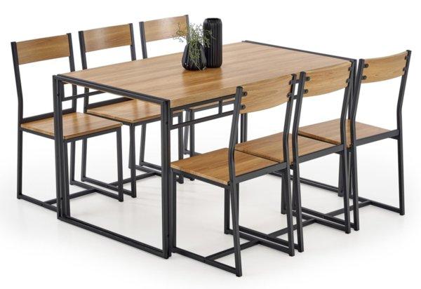 Трапезен комплект BOLIVAR маса + 6 стола