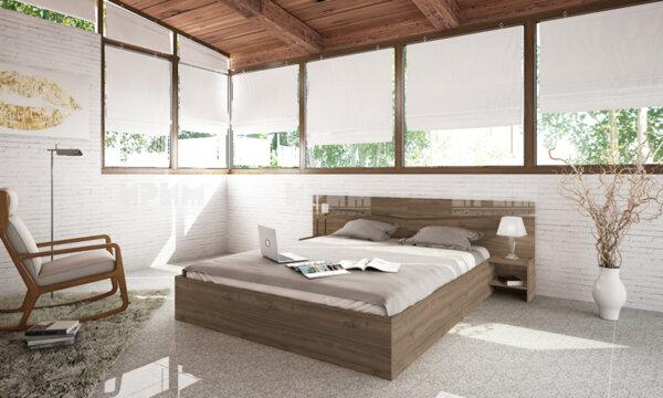 Легло City 2007 160x200 см. с ВКЛЮЧЕН МАТРАК, повдигащ механизъм и нощни шкафчета