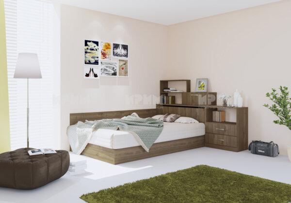 Легло City 7032 120х190 см. с включен матрак, ракла и шкафове