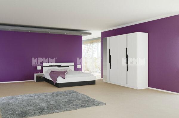 Спален комплект City 7013 с LED осветление в гардероба и повдигащ механизъм