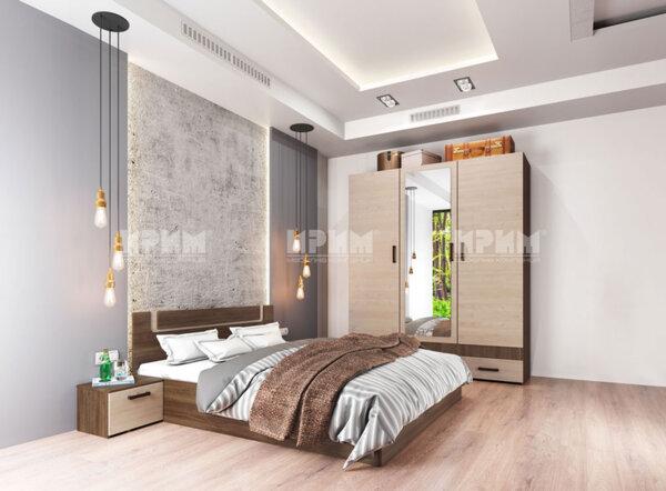 Спален комплект City7038 с вкл. повдигащ механизъм и LED осветление в гардероба