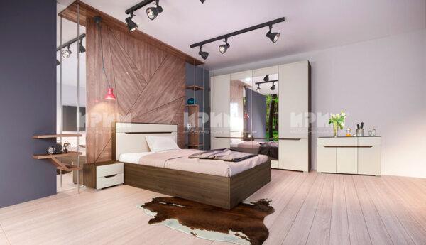 Спален комплект City 7035 с вкл. скрин, LED осветление в гардероба и повдигащ механизъм