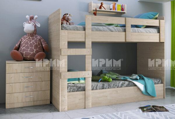 City 5015 - двуетажно детско легло със скрин