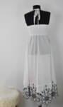 Дълга дамска рокля с ефектна долна част (второ качество)