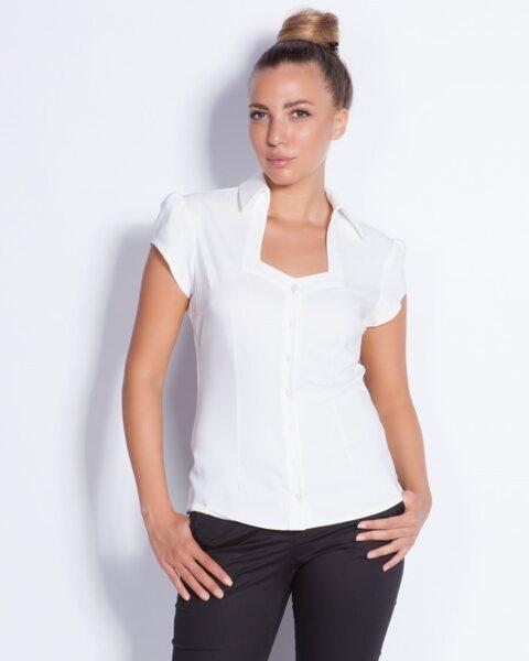 Бяла дамска риза - Prudence (второ качество)