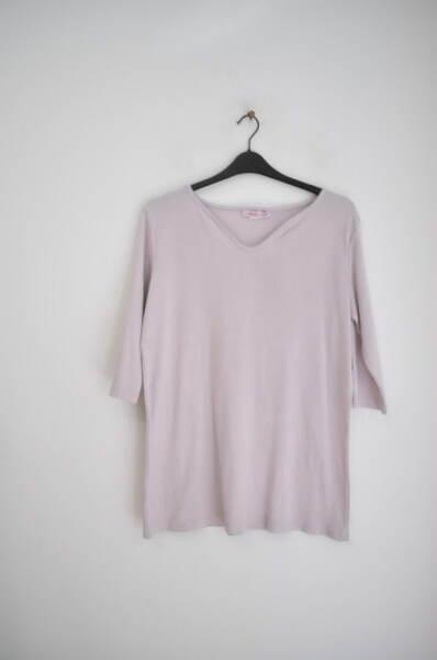 Дамска памучна блуза в бледолилав цвят (второ качество)