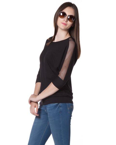 Дамска блуза от трико с атрактивни ръкави - Deneris