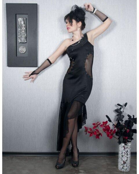 Официална дамска рокля с ефектни детайли (второ качество)