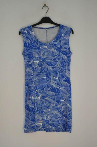 Ежедневна рокля в синьо-бели шарки (второ качество)