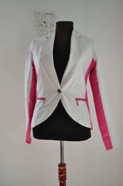 Дамско сако с розови кантове (второ качество)