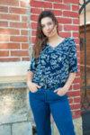 Дамска блуза с ефектен гръб