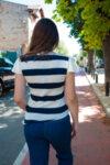 Раирана асиметрична блуза