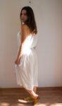 Дамска рокля без презрамки с асиметричен силует (второ качество)