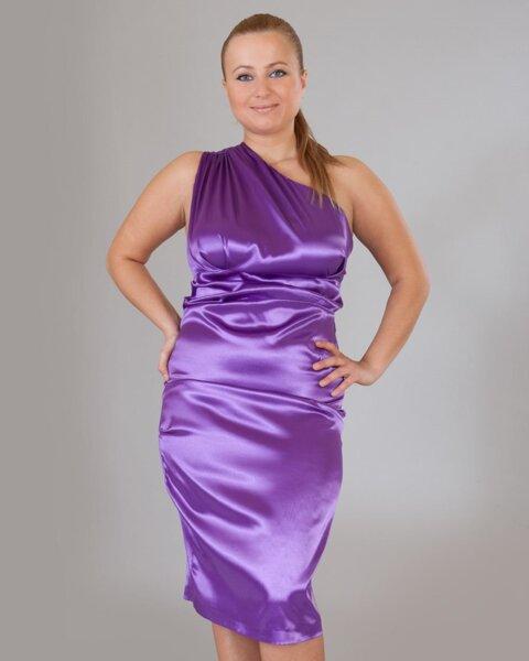 Ефектна рокля в лилаво (второ качество)