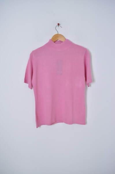 Дамско поло с къс ръкав в розово (второ качество)