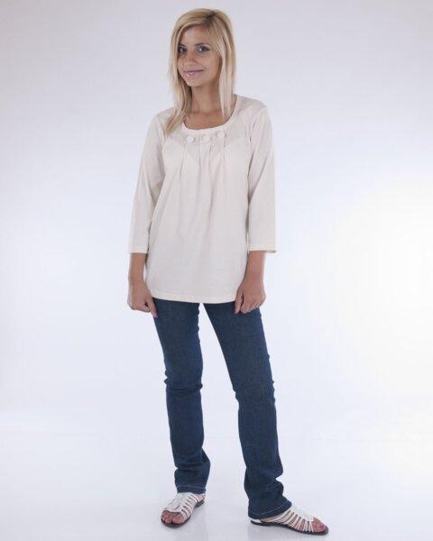Дамска блуза в бежово (второ качество)
